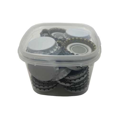 Capsules couronne Blanches diamètre 29mm - 50 pcs