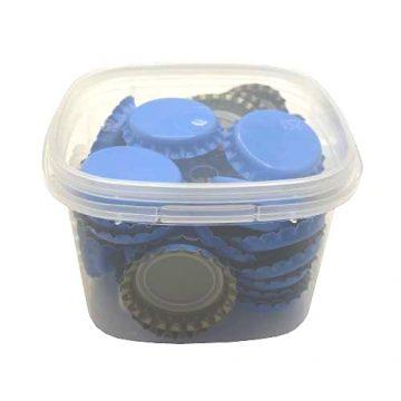 Kit de 50 capsules couronne 26mm couleur bleu