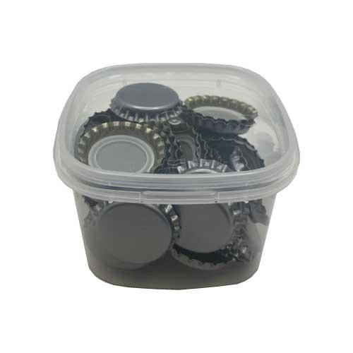 Capsules couronne gris métal diamètre 29mm - 50 pcs