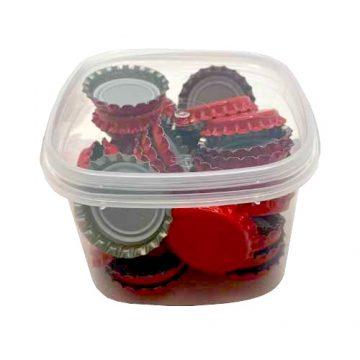Kit de 50 capsules de bière couronne 26mm couleur Rouge